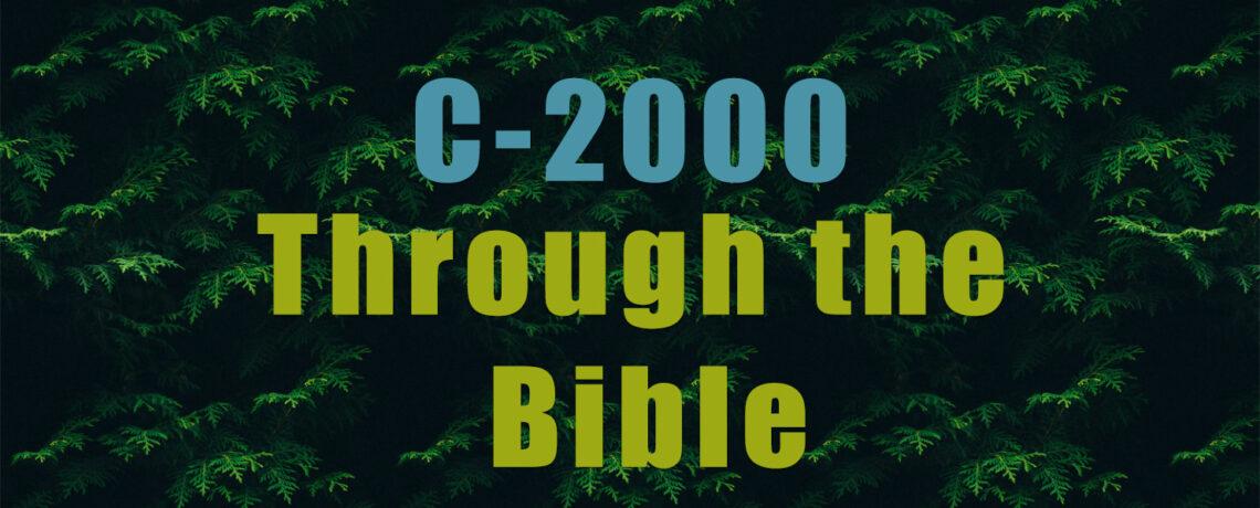 C-2000 Through the Bible